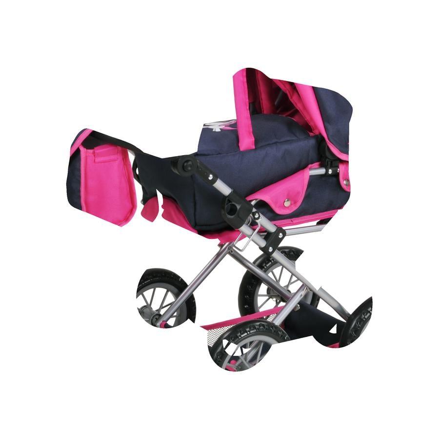 knorr® toys Poppenwagen Ruby - Uma de eenhoorn, blauw
