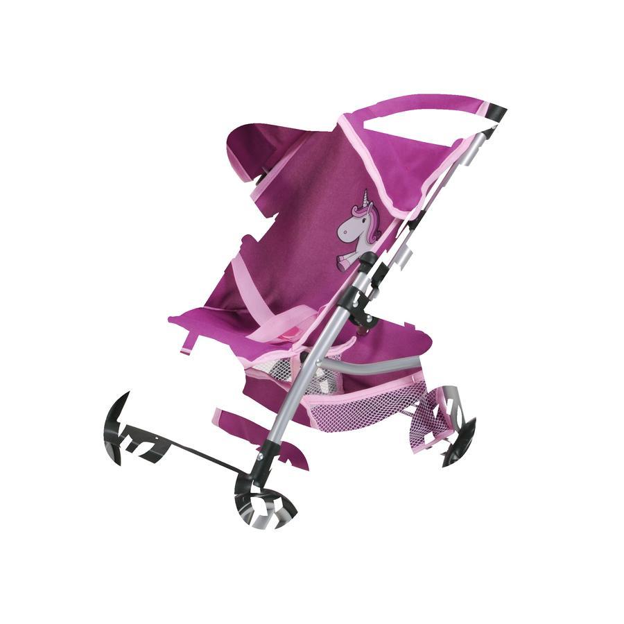 knorr® toys Dockvagn Liba - Enhörningen Uma, lila