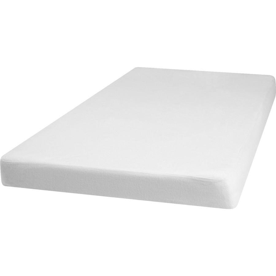 Playshoes Molton Spannbettlaken 40x70cm weiß