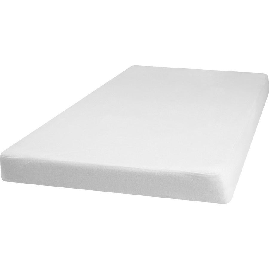 Playshoes Molton Spannbettlaken 60x120cm weiß