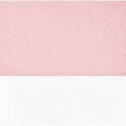 jollein Prześcieradło Mini Dots Blush Pink 120x150cm