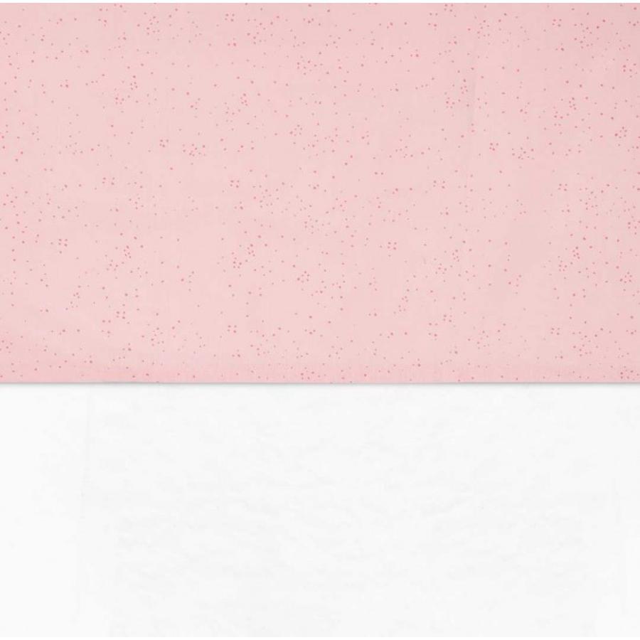 jollein Sheet Mini Dots Blush Pink 120x150cm
