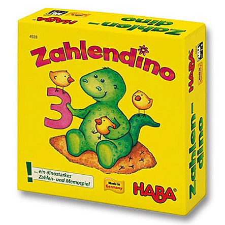 HABA Bring along game Supermini Number Dinosaur