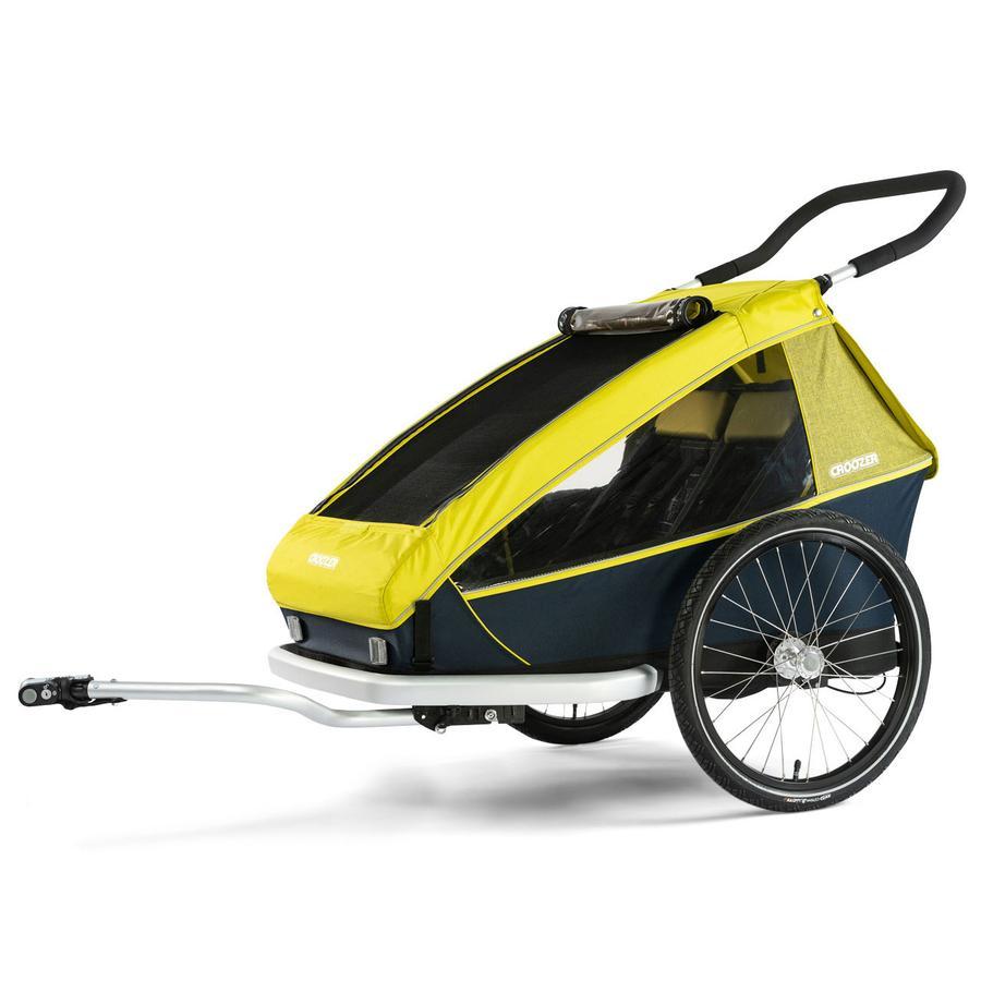 CROOZER Przyczepka rowerowa Kid for 2 Lemon green