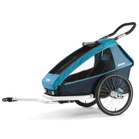 CROOZER Remorque vélo enfant Kid Plus for 1 blue ocean 2019