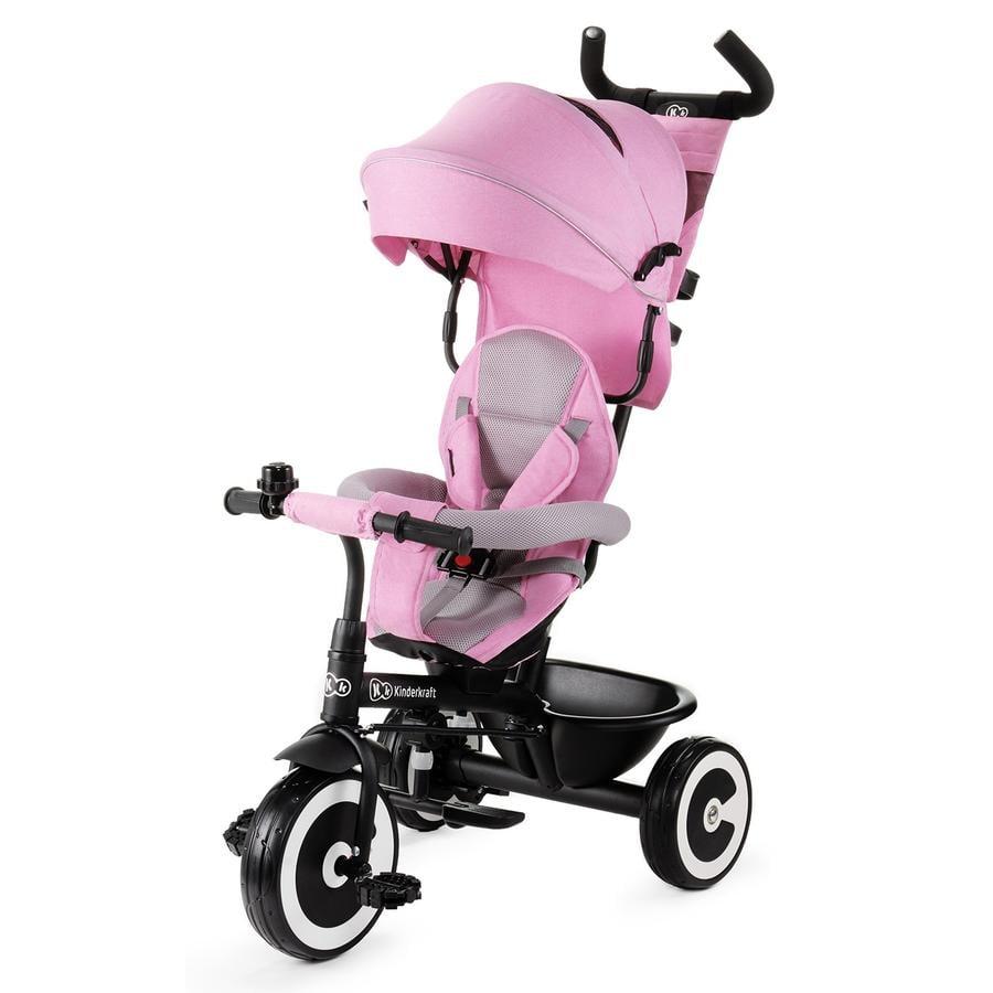 Kinderkraft tříkolka ASTON, růžová