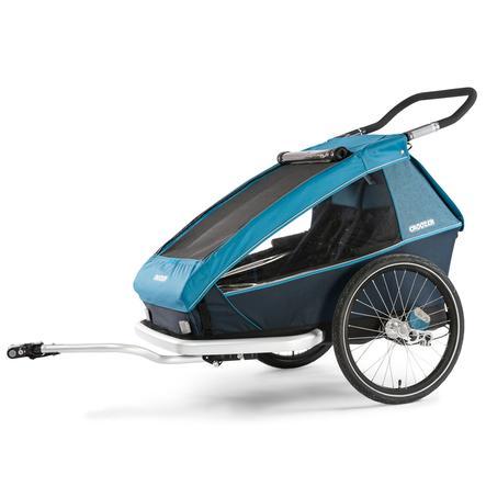 CROOZER Remorque vélo enfant Kid Plus for 2 blue ocean 2019