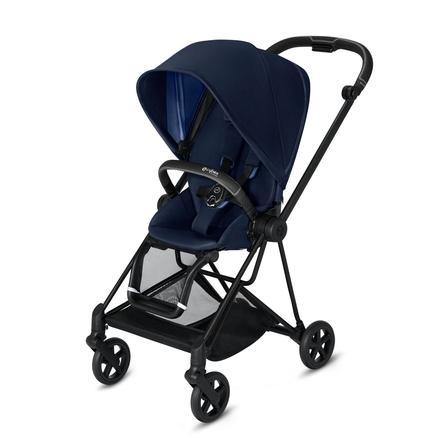 cybex PLATINUM Kinderwagen Mios - Rahmen Matt Black inklusive Sitz in Indigo Blue