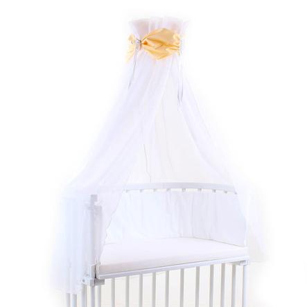 BABYBAY Baldachim kolor żółty/biały
