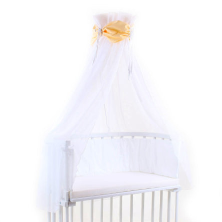 babybay Ciel de lit, jaune/blanc, 200 x 135 cm