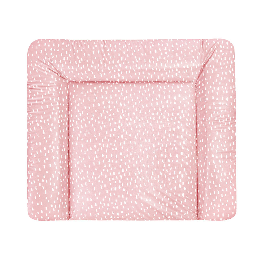 JULIUS ZÖLLNER Wickelauflage Softy Folie Tiny Squares Blush  75 x 85 cm