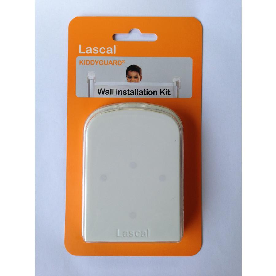 Lascal Kit instalación en pared de barrera de seguridad para Kiddy Guard blanco