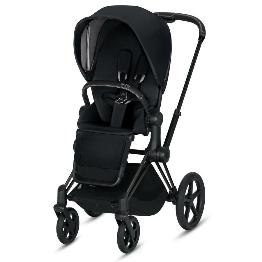 cybex PLATINUM Kinderwagen Priam - Rahmen Matt Black inklusive Sitz in Premium Black