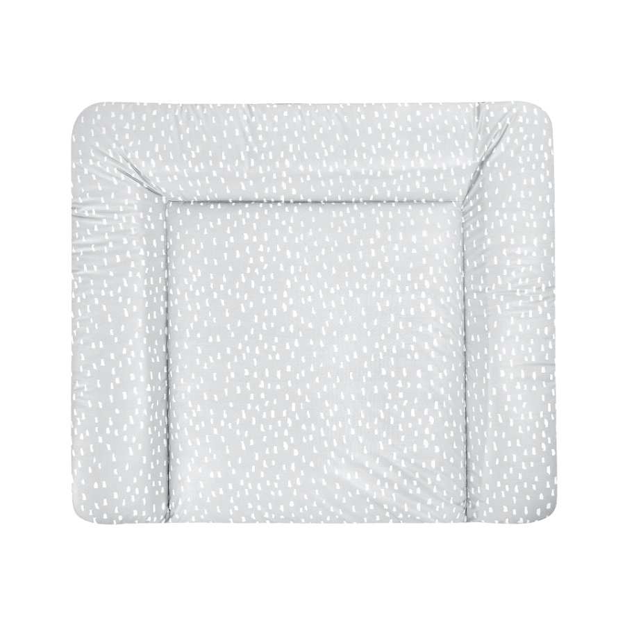 JULIUS ZÖLLNER Wickelauflage Softy Folie Tiny Squares Grey  85 x 75 cm