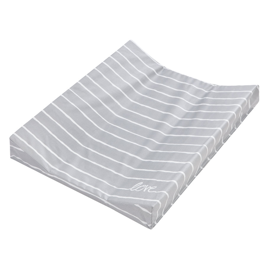 JULIUS ZÖLLNER Wickelauflage 2-Keil Mulde Folie Grey Stripes 50 x 65 cm