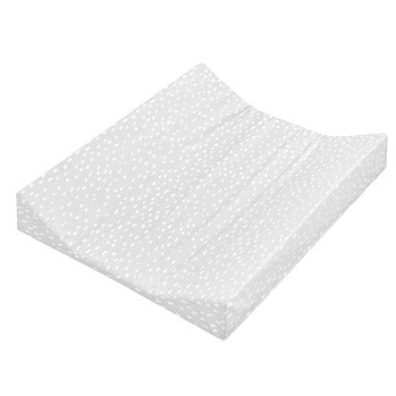 JULIUS ZÖLLNER Wickelauflage 2-Keil Mulde Folie Tiny Squares Grey 50 x 65 cm