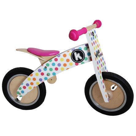 kiddimoto® Premium Laufrad KURVE - Pastell Dotty