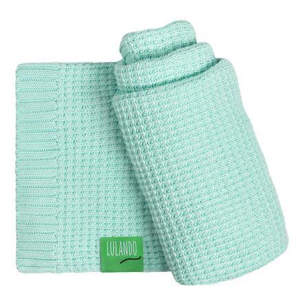 LULANDO Baby-bambusová deka zelená 80 x 100 cm