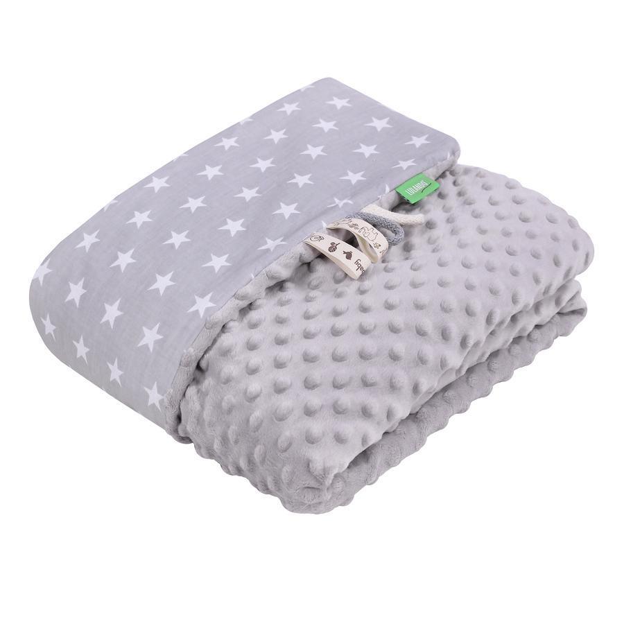 LULANDO deka Minky hvězdičky šedá 100 x 140 cm