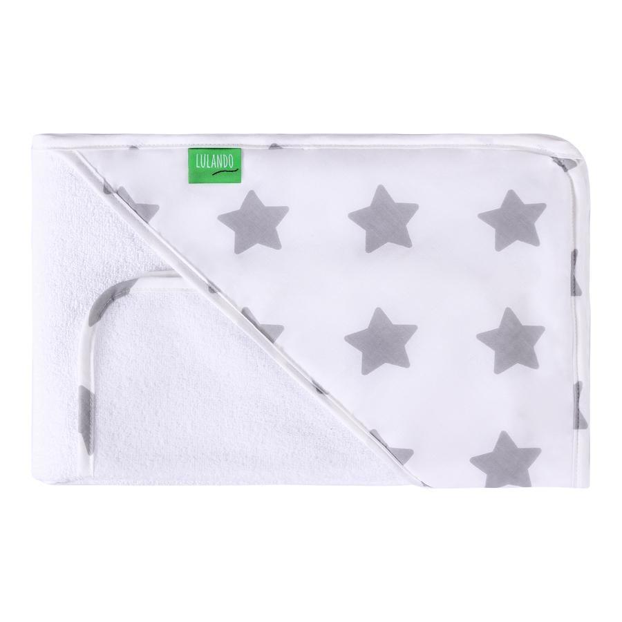 LULANDO Koupací ručník s kapucí ink. žínka hvězdičky 80 x 100 cm