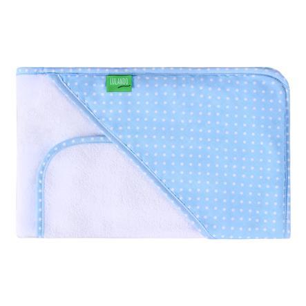 LULANDO Koupací ručník s kapucí ink. žínka puntíky modro bílé 80 x 100 cm