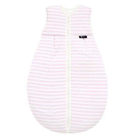 Alvi Jersey helårssovepose striper rosa 70 - 110 cm