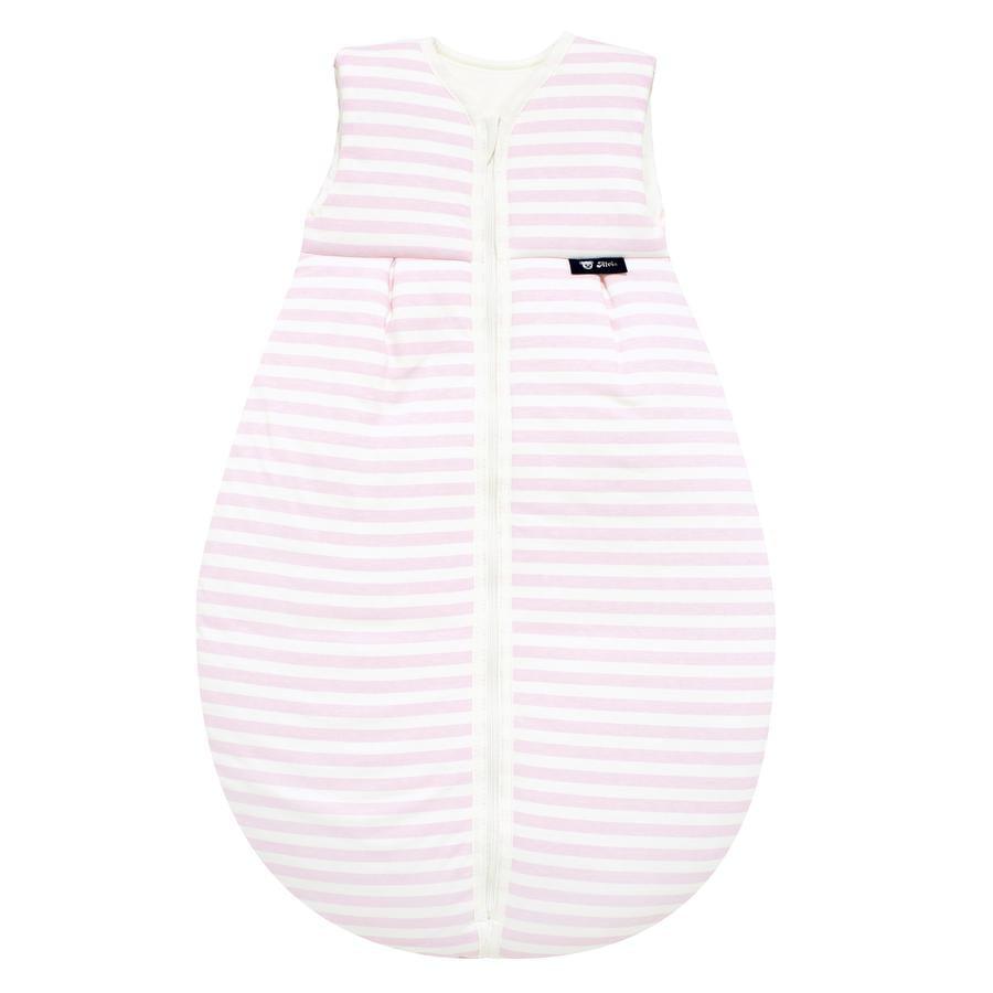 Alvi Jersey Saco de dormir para todo el año Térmico, rayas rosa 70 - 110 cm