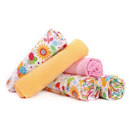 LULANDO Couches tissu abeilles jaune/rose 70x80 cm 5 pièces