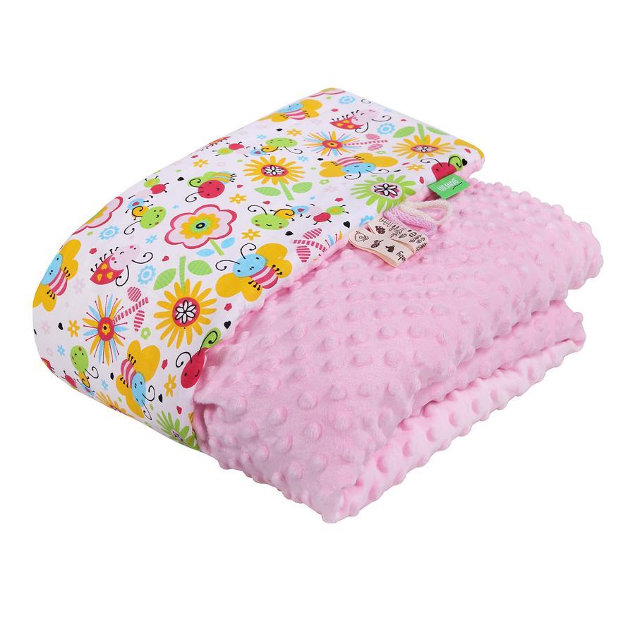 100 x 80 cm  Kuscheldecke Decke Babydecke rosa ca