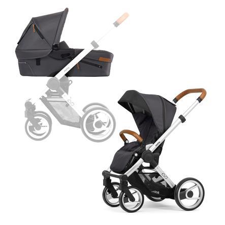 mutsy EVO Kombi-Kinderwagen komplett Silver/Dark Grey URBAN NOMAD Edition