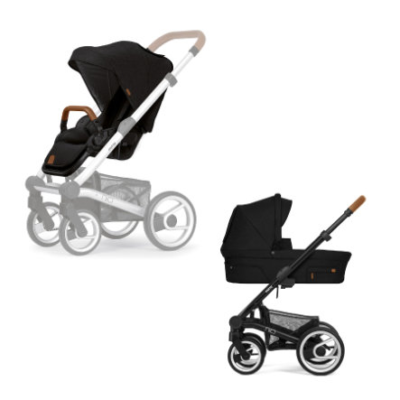 Mutsy Nio Kombi-Kinderwagen komplett Black/North Black