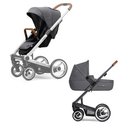 mutsy i2 Kombi-Kinderwagen komplett Dark Grey/Heritage Stone Grey HERITAGE Edition