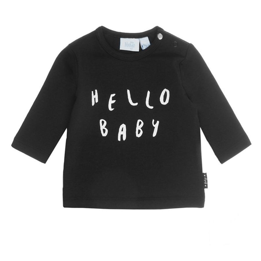 Feetje Lång hejärmad skjorta baby Tillverkad med kärlekssvart
