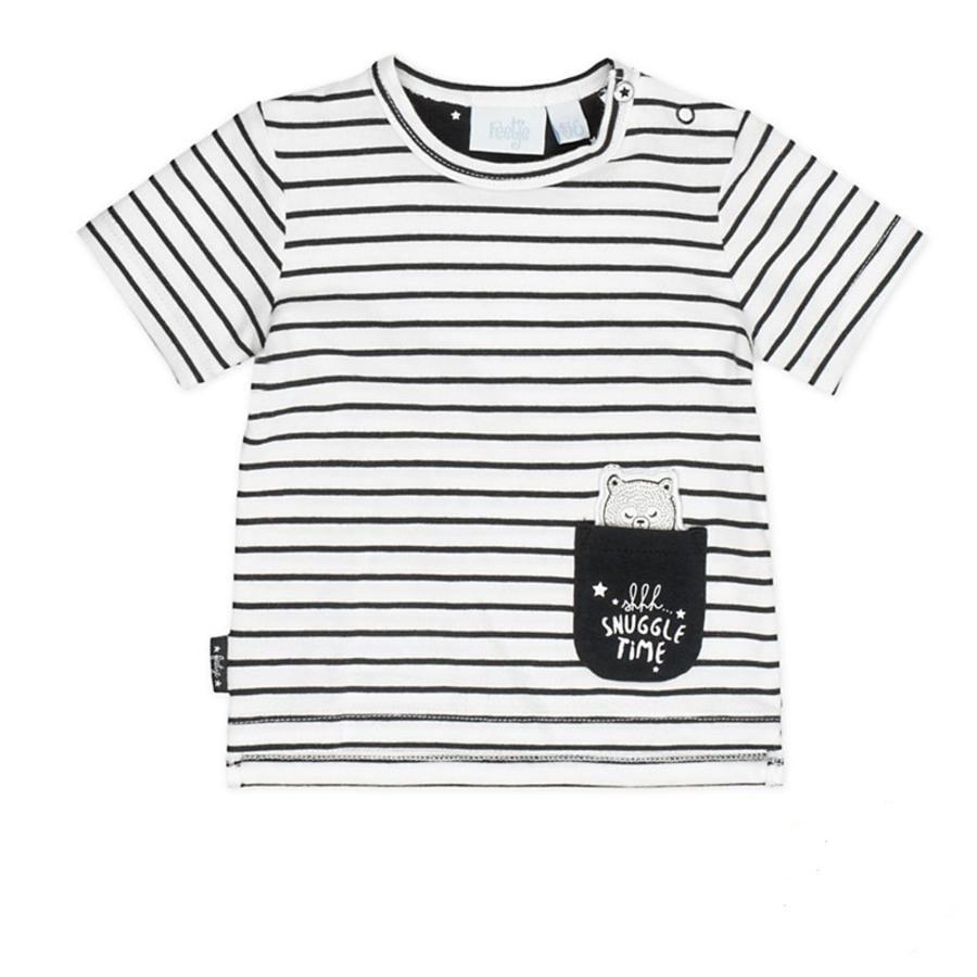 Feetje Girl s T-Shirt Ringel Made with love white