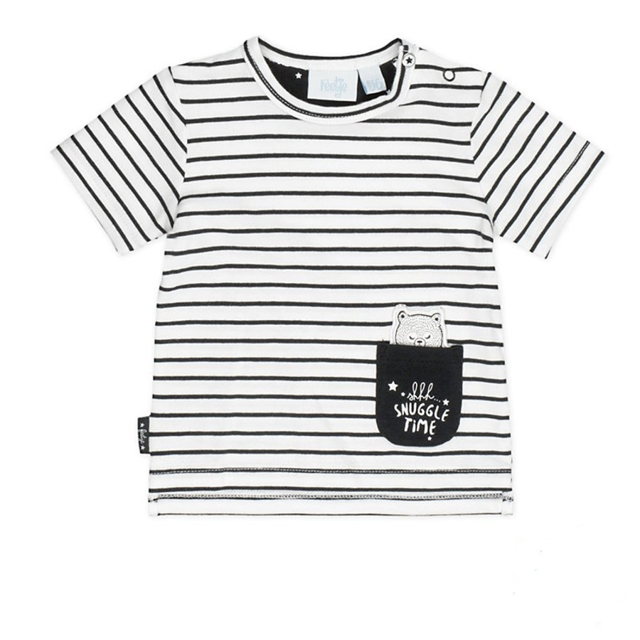 Feetje Girls T-Shirt Ringel Made with love white