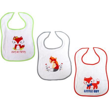 HÜTTE & CO Velcro bib fox-fox-fox-flox 3-pack
