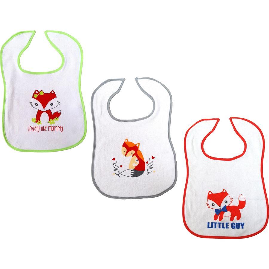 HÜTTE & CO Velcro bryndáček fox-fox-fox-flox 3-pack