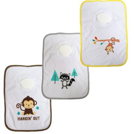 Bavaglini HAT & CO 3-pack scimmia scimmia riccio scimmia riccio scimmia 80x80cm