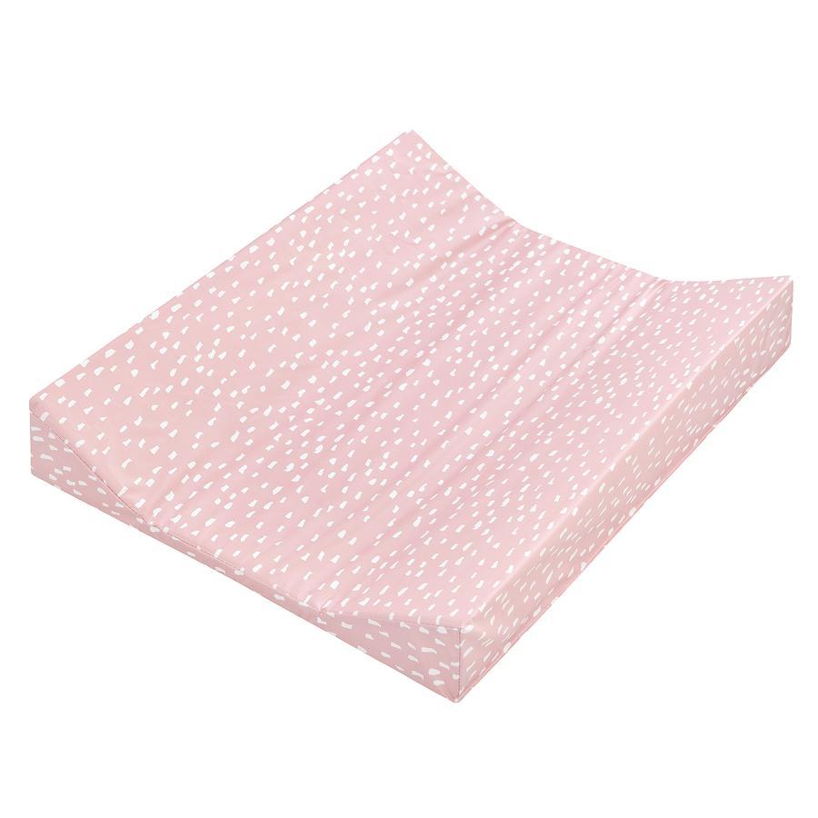 JULIUS ZÖLLNER Wickelauflage 2-Keil Mulde Folie Tiny Squares Blush 50 x 65 cm
