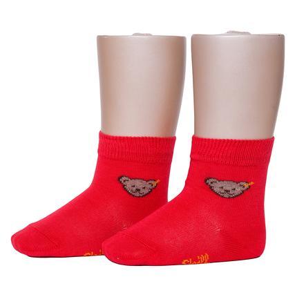 Steiff Socken TEDDY, rot