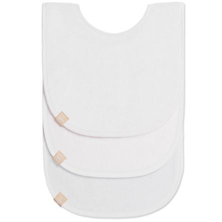 LÄSSIG Bavoirs nouveau-né Newborn bib white 0-12 mois 3 pièces