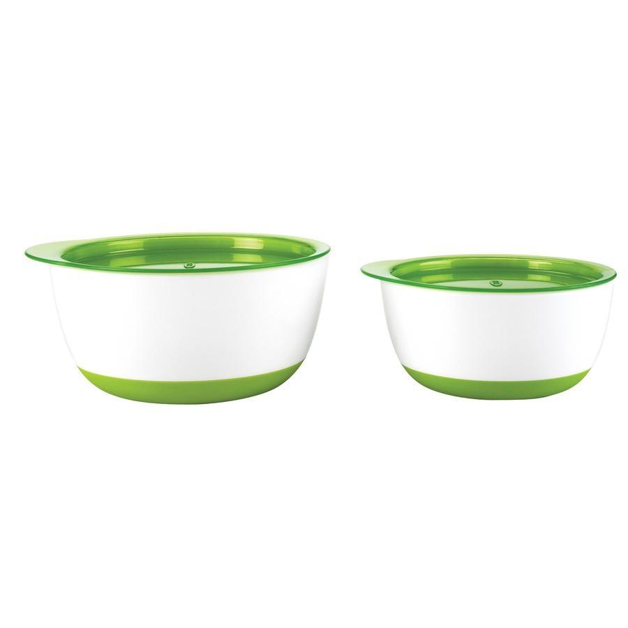 OXO Lot de 2 bols, vert, grand et petit