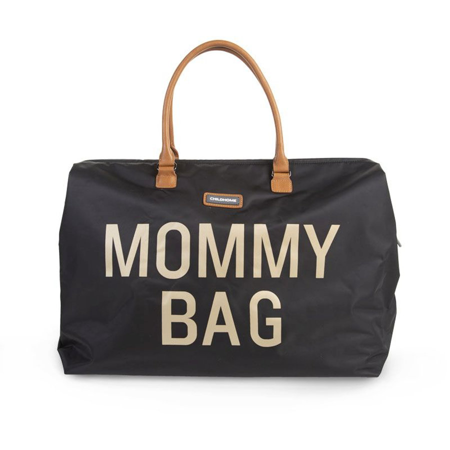 CHILDHOME Borsa Fasciatoio Mommy Bag grande Black Gold