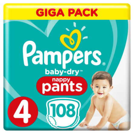 Pampers Baby Dry Pants Gr. 4 Maxi 108 Windeln 9 - 15 kg Giga Pack