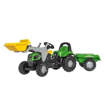 ROLLY TOYS rollykid Deutz-Šlapací traktor Deutz s nakladačem a vlekem