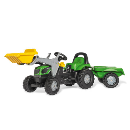 Rolly Toys Šlapací traktor Deutz s vlekem a čelním nakladačem RollyKid