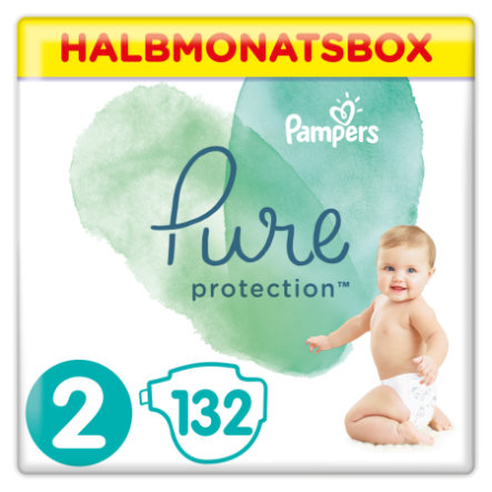 Pampers Couches Pure Protection T.2 pack semi-mensuel Mini 4-8 kg 132 pcs