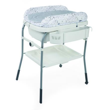 CHICCO Cuddle & Bubble Comfort Kylpy- ja hoitopöytä, Cool grey