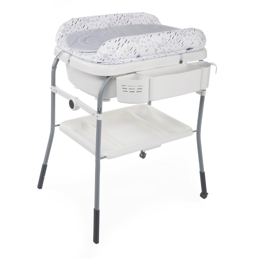 chicco Cuddle & Bubble Comfort Bade-/Wickelkombination cool grey