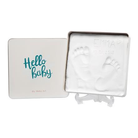 Baby Art coffret en plâtre - Magic coffret, carré, Essentials turquoise